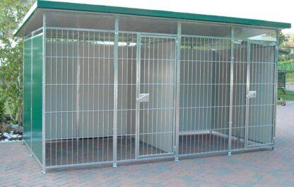 Box per cani coibentato DOPPIO cm 380 x 195 x 200 h