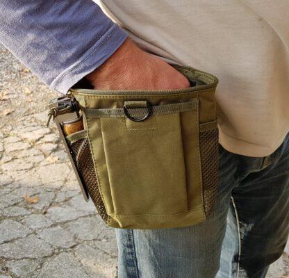 Tasca per crocchette premio impermeabile per cintura cm 20 x 14