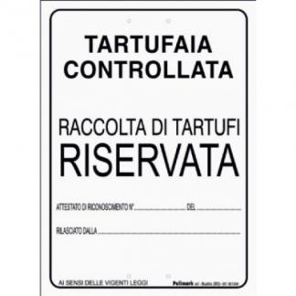 tabella raccolta tartufi riservata
